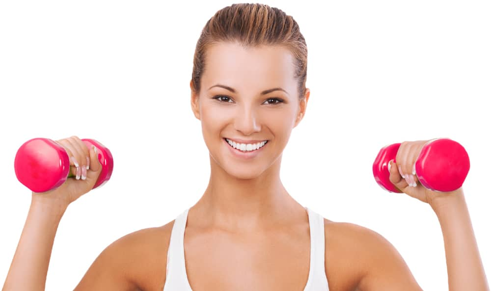 Exercise Happy Fitness Trainer Girl